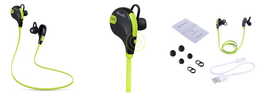 Bestfy Bluetooth 4.1 Wireless Sports Headphones Noise Cancelling
