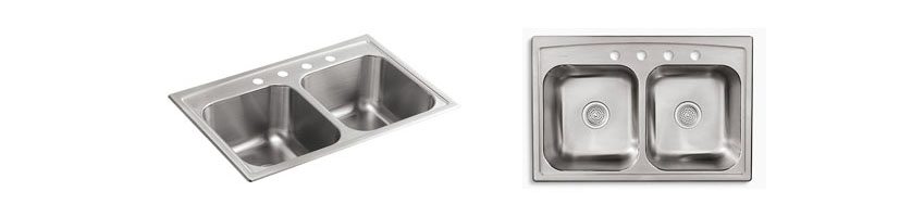 KOHLER K-3847-4-NA Toccata Top-Mount Double-Equal Bowl Kitchen Sink