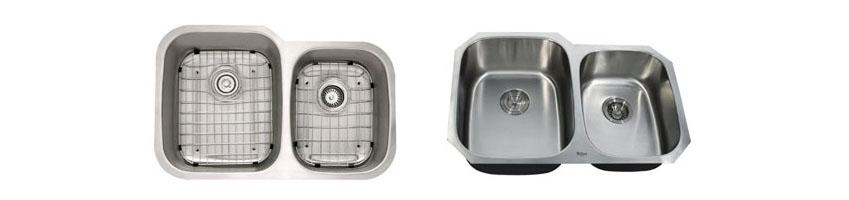 Kraus KBU24 32 inch Undermount Double Bowl 16 gauge Stainless Steel Kitchen Sink