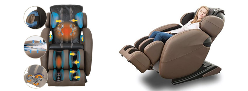 fullbody zero gravity space saving ltrack kahuna massage chair recliner