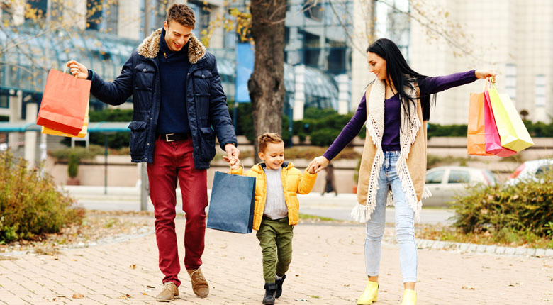 Go shopping with family and friends