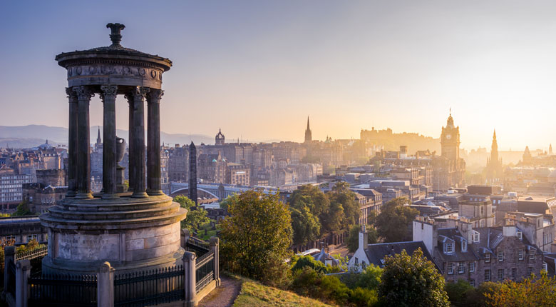 Edinburgh, Scotland popular for holidays