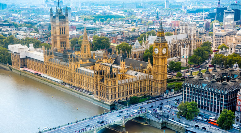 London, England to visit in holidays