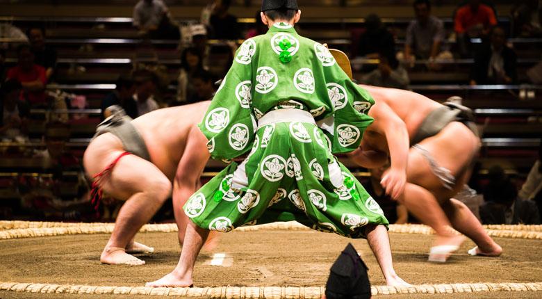 sumo wrestling match japan