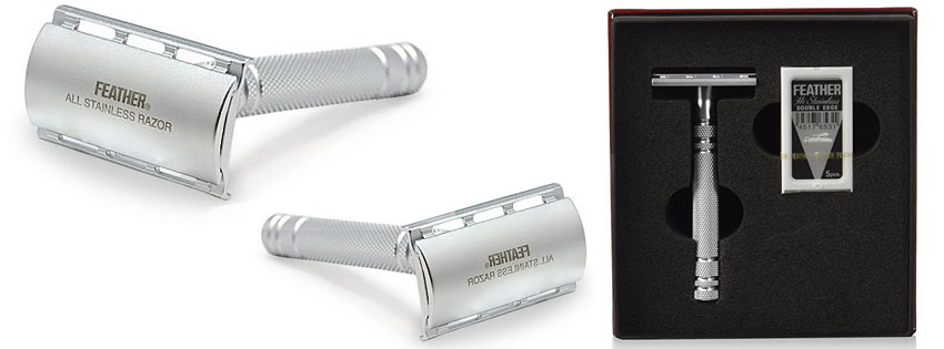Feather Stainless Steel Double Edge Safety Razor