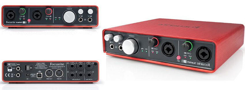 Focusrite Scarlett i In Out USB Audio Interface
