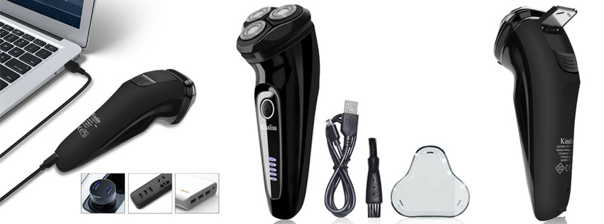 Kissliss Waterproof Rotary Shaver