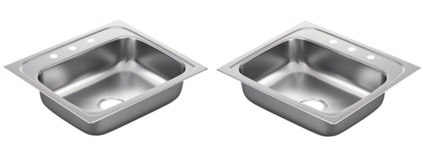 Moen G Series Gauge Single Bowl Drop In Sink