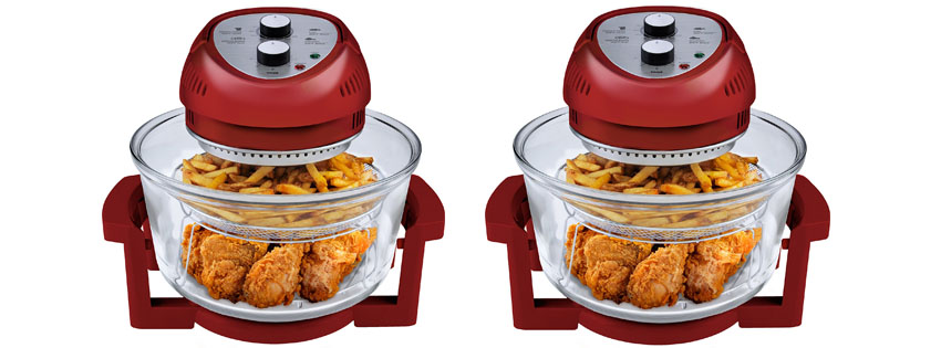 Big Boss watt Oil Less Fryer Quart Red