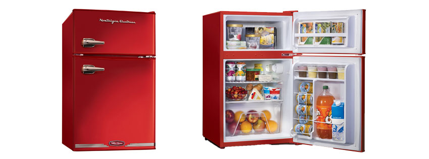 Nostalgia Electrics RRF HNRED Retro Series Compact Refrigerator Freezer