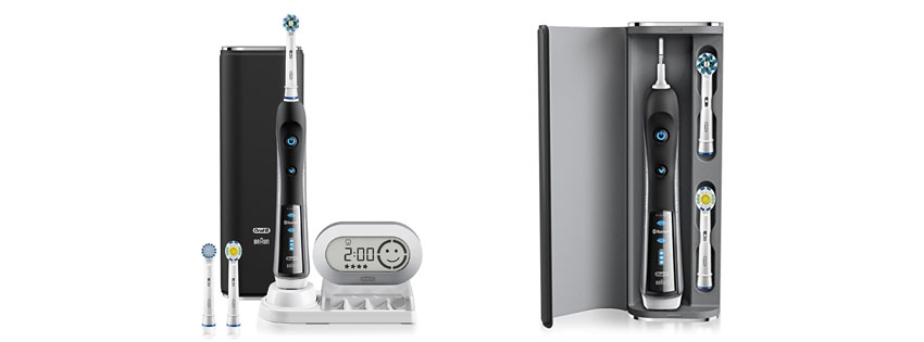 Black SmartSeries Electric Power Toothbrush