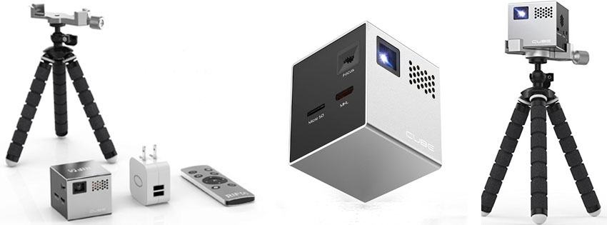 RIF CUBE Inch Pico DLP High-Res Mobile Projector