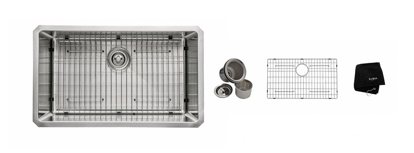 Kraus KHU inch Gauge Undermount Single Bowl Stainless Steel Sink