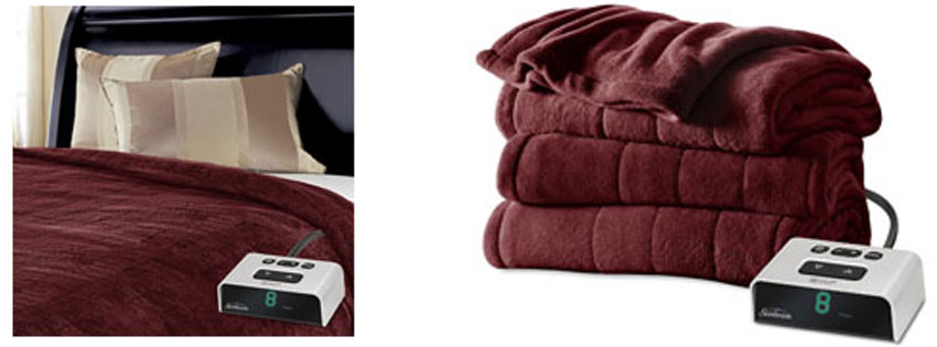 Sunbeam Microplush Heated Blanket BSM BKS R A