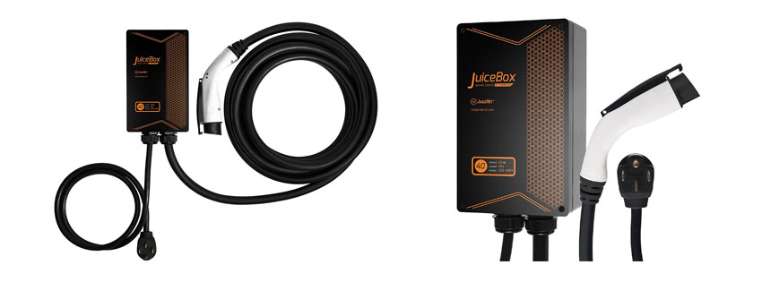 JuiceBox Plug in Electric Vehicle L Home Charging Station