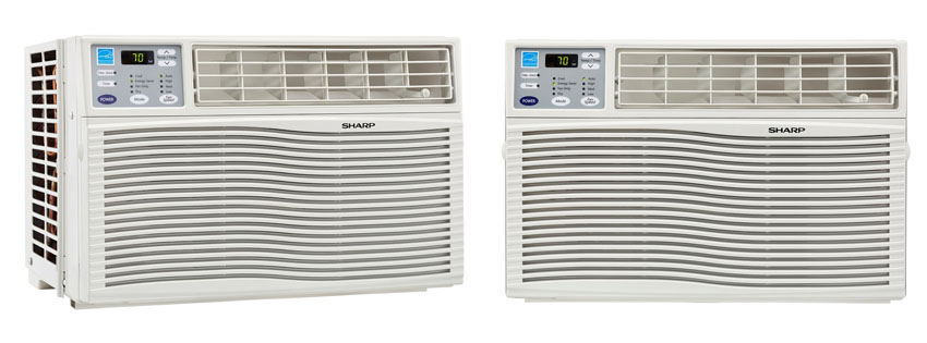 Sharp AFQVX Energy Star BTU Window Mounted Air Conditioner