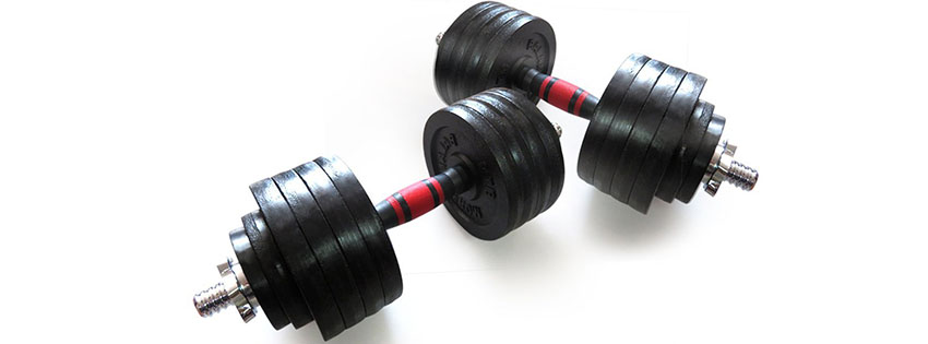 BalanceFrom Cast Iron Adjustable Dumbbells