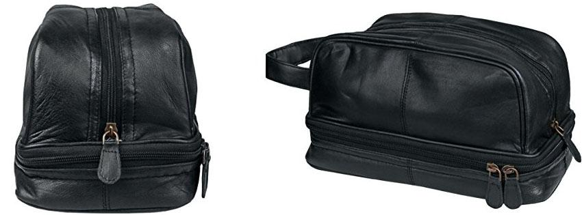 Genuine Leather Dopp Kit Toiletry Travel Bag