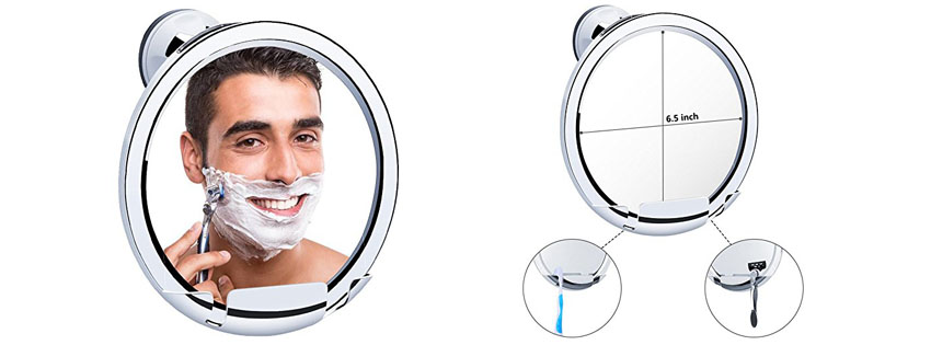 KEDSUM Fogless Shaving Mirror with Razor Holder