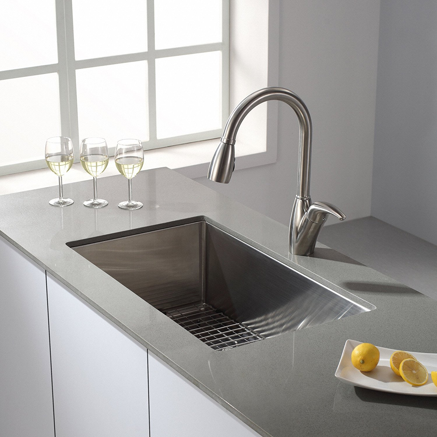 Single Kitchen Sinks Top 10 best single bowl kitchen sinks 2018 reviews editors pick kraus khu 100 30 kitchen sink workwithnaturefo