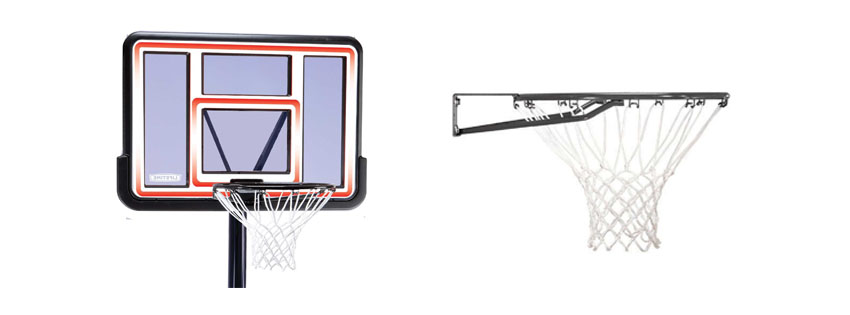 Lifetime 1269 Pro Court Height System, 44 Inch Backboard