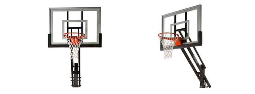 Pro Dunk Silver Adjustable Basketball Goal Hoop System