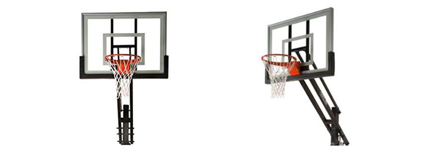 Pro Dunk Silver Adjule Basketball Goal Hoop System