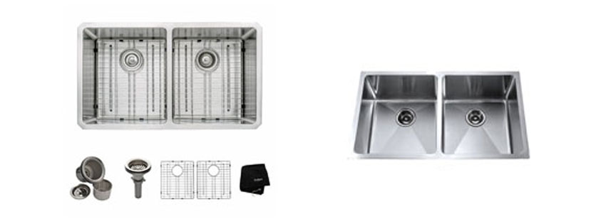 Kraus KHU inch Undermount Double Bowl gauge Kitchen Sink