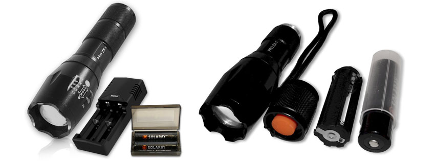 Solaray Pro ZX Tactical Flashlight