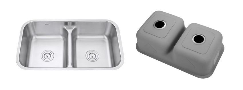 Ruvati RVM Low Divide Undermount Double Bowl Kitchen Sink