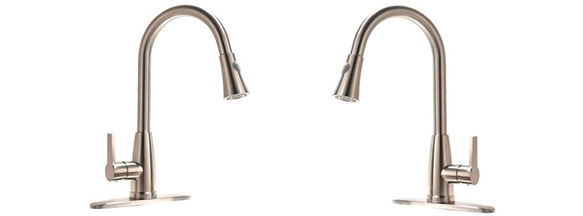VAPSINT Brushed Nickel Pull-Down Faucet