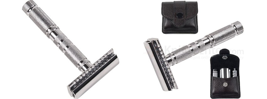 Parker Travel Three Piece Safety Razor