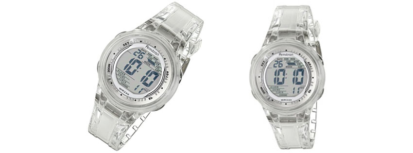 Armitron Sport Womens Digital Clear Jelly Strap Watch