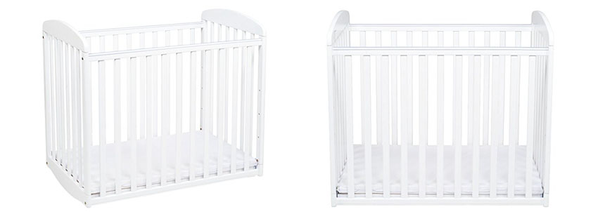 Dream On Me 2 In 1 Portable Folding Stationary Crib