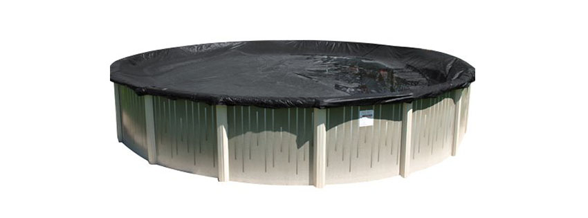 Snow Winter Round DELUXE PLUS Above Ground Swimming Pool Winter Cover