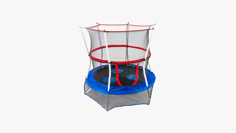 Skywalker Trampolines 40-inch Mini Trampoline with Enclosure Net
