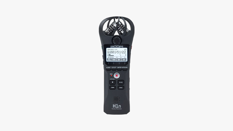 Zoom H1n Handy Portable Digital Recorder Bundle