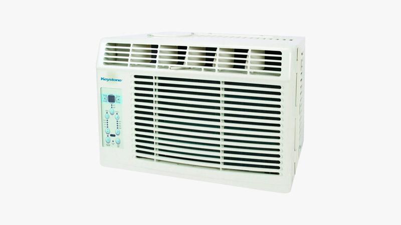 Keystone KSTAW08B 8,000 BTU 115V Window-Mounted Air Conditioner
