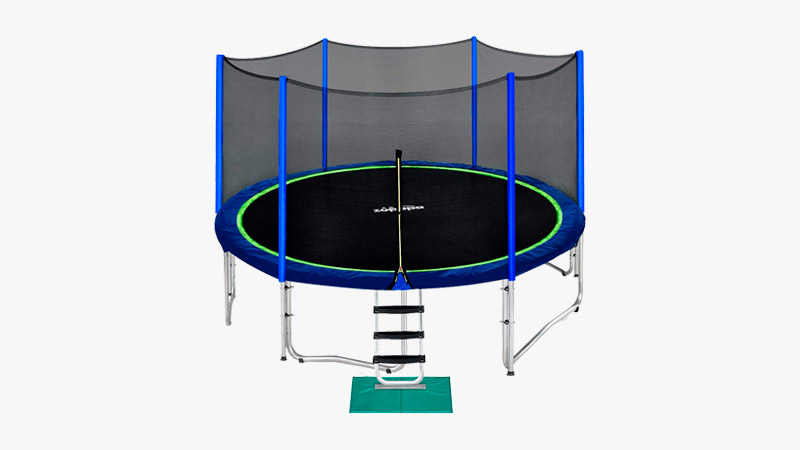 Zupapa 14 FT Trampoline for Kids with Safety Enclosure Net